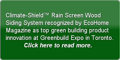 Climate-Shield™ Rain Screen Wood Siding
