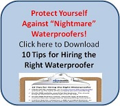 10 Tips for hiring the right waterproofer CTA butt