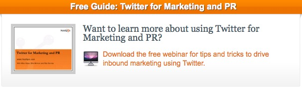 Twitter For Marketing PR CTA
